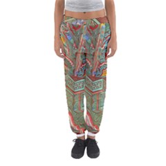 Traditional Korean Painted Paterns Women s Jogger Sweatpants