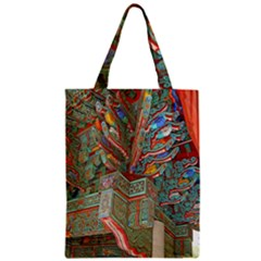 Traditional Korean Painted Paterns Zipper Classic Tote Bag