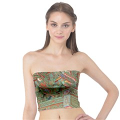 Traditional Korean Painted Paterns Tube Top