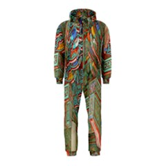 Traditional Korean Painted Paterns Hooded Jumpsuit (Kids)