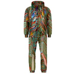 Traditional Korean Painted Paterns Hooded Jumpsuit (Men)