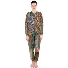 Traditional Korean Painted Paterns OnePiece Jumpsuit (Ladies)