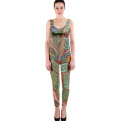 Traditional Korean Painted Paterns OnePiece Catsuit