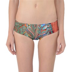 Traditional Korean Painted Paterns Classic Bikini Bottoms