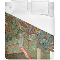 Traditional Korean Painted Paterns Duvet Cover (California King Size)