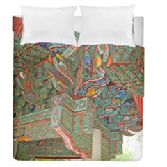 Traditional Korean Painted Paterns Duvet Cover Double Side (Queen Size)