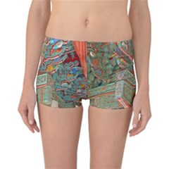 Traditional Korean Painted Paterns Reversible Bikini Bottoms