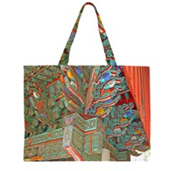 Traditional Korean Painted Paterns Large Tote Bag