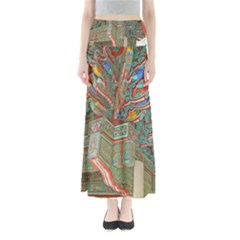 Traditional Korean Painted Paterns Maxi Skirts