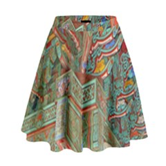 Traditional Korean Painted Paterns High Waist Skirt