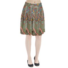 Traditional Korean Painted Paterns Pleated Skirt