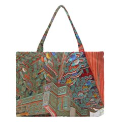 Traditional Korean Painted Paterns Medium Tote Bag