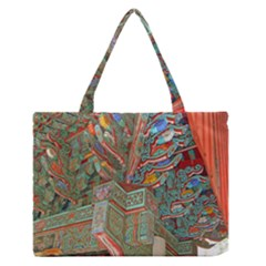 Traditional Korean Painted Paterns Medium Zipper Tote Bag
