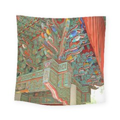 Traditional Korean Painted Paterns Square Tapestry (small)