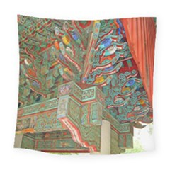 Traditional Korean Painted Paterns Square Tapestry (large)
