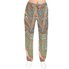 Traditional Korean Painted Paterns Drawstring Pants