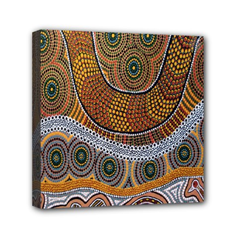 Aboriginal Traditional Pattern Mini Canvas 6  x 6