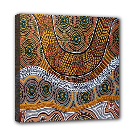 Aboriginal Traditional Pattern Mini Canvas 8  x 8