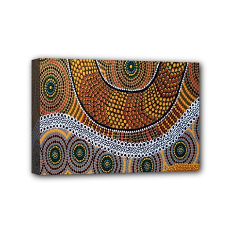 Aboriginal Traditional Pattern Mini Canvas 6  x 4