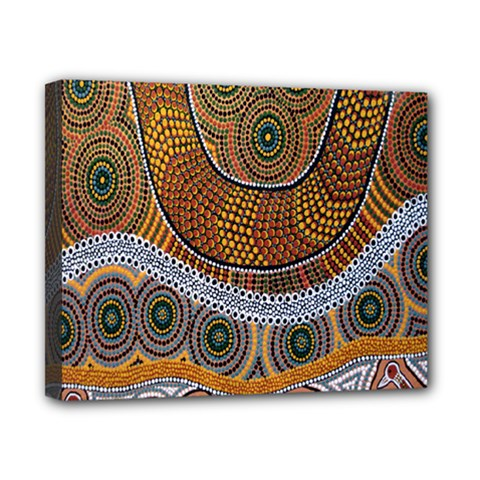 Aboriginal Traditional Pattern Canvas 10  x 8