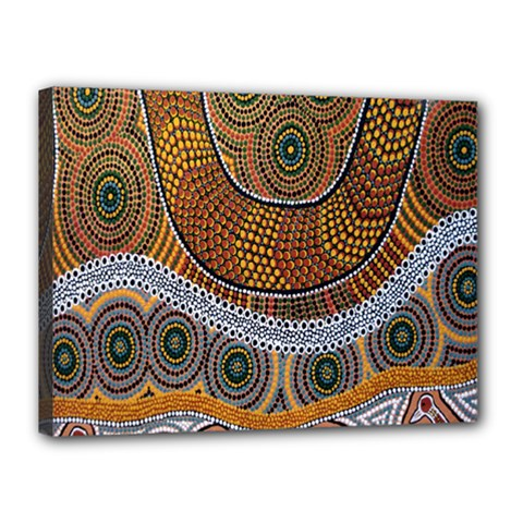 Aboriginal Traditional Pattern Canvas 16  x 12