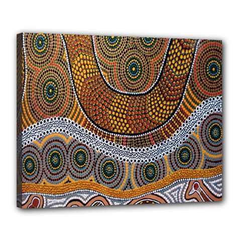 Aboriginal Traditional Pattern Canvas 20  x 16