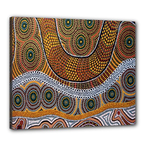 Aboriginal Traditional Pattern Canvas 24  x 20
