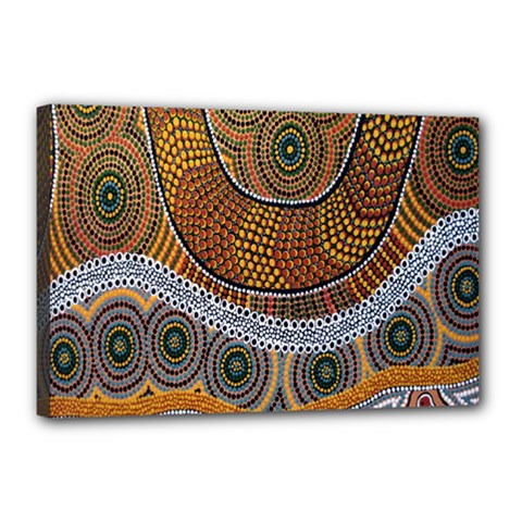 Aboriginal Traditional Pattern Canvas 18  x 12