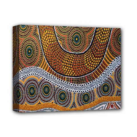 Aboriginal Traditional Pattern Deluxe Canvas 14  x 11