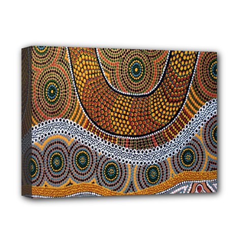 Aboriginal Traditional Pattern Deluxe Canvas 16  x 12