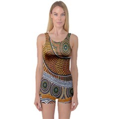 Aboriginal Traditional Pattern One Piece Boyleg Swimsuit