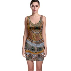 Aboriginal Traditional Pattern Sleeveless Bodycon Dress