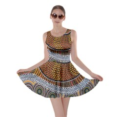 Aboriginal Traditional Pattern Skater Dress