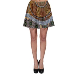 Aboriginal Traditional Pattern Skater Skirt