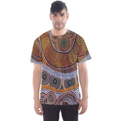 Aboriginal Traditional Pattern Men s Sport Mesh Tee