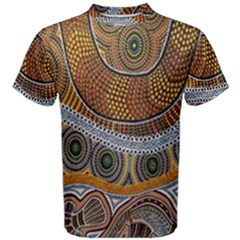 Aboriginal Traditional Pattern Men s Cotton Tee