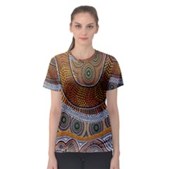 Aboriginal Traditional Pattern Women s Sport Mesh Tee