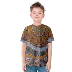 Aboriginal Traditional Pattern Kids  Cotton Tee