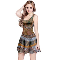 Aboriginal Traditional Pattern Reversible Sleeveless Dress