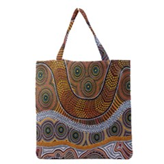 Aboriginal Traditional Pattern Grocery Tote Bag