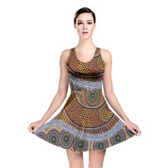 Aboriginal Traditional Pattern Reversible Skater Dress