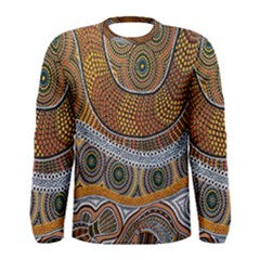Aboriginal Traditional Pattern Men s Long Sleeve Tee