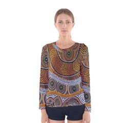 Aboriginal Traditional Pattern Women s Long Sleeve Tee