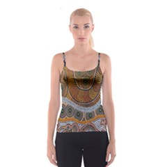Aboriginal Traditional Pattern Spaghetti Strap Top