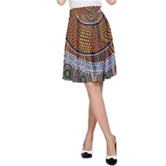 Aboriginal Traditional Pattern A-Line Skirt