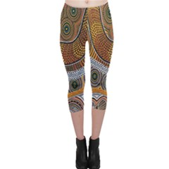 Aboriginal Traditional Pattern Capri Leggings