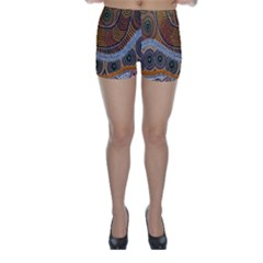 Aboriginal Traditional Pattern Skinny Shorts