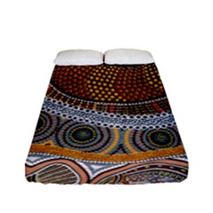 Aboriginal Traditional Pattern Fitted Sheet (Full/ Double Size)