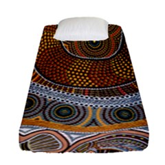 Aboriginal Traditional Pattern Fitted Sheet (Single Size)