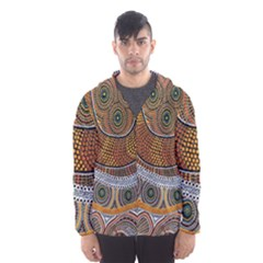 Aboriginal Traditional Pattern Hooded Wind Breaker (Men)